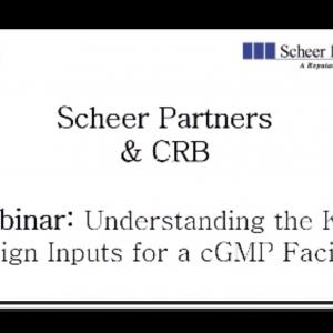 Understanding the cGMP Design Inputs